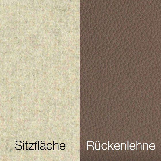 Textilgewebe Future Natural (30 % Wolle, 70 % Polyamid) & Leder Tendens Nude