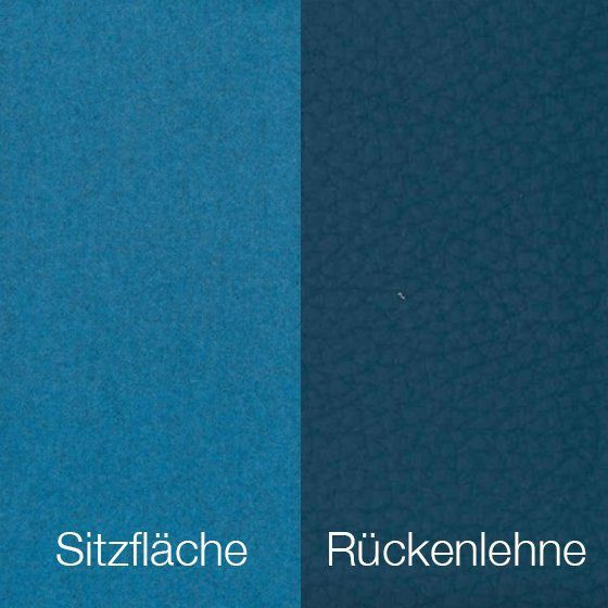 Textilgewebe Future Oceanblue (30 % Wolle, 70 % Polyamid) & Leder Tendens Petrol