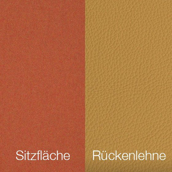 Textilgewebe Future Orange (30 % Wolle, 70 % Polyamid) & Leder Tendens Soft Yellow