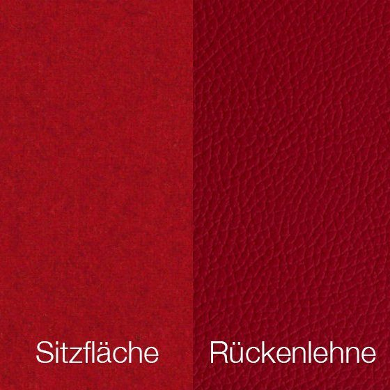 Textilgewebe Future Red (30 % Wolle, 70 % Polyamid) & Leder Tendens Red