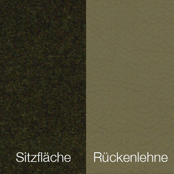 Textilgewebe Future Taupe (30 % Wolle, 70 % Polyamid) & Leder Tendens Taupe