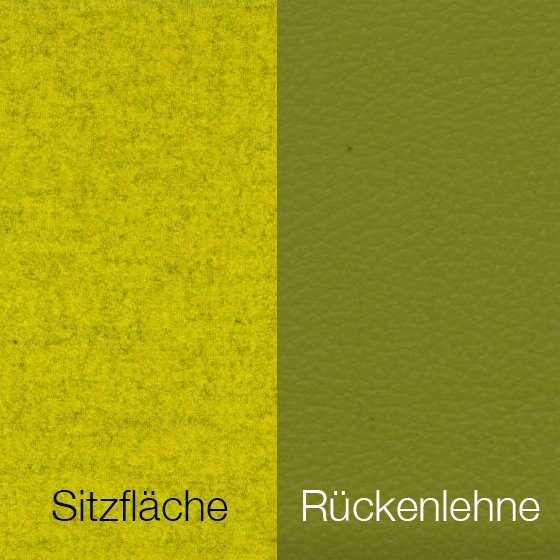 Textilgewebe Future Yellow (30 % Wolle, 70 % Polyamid) & Leder Tendens Lime