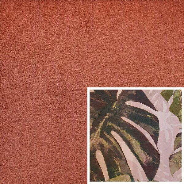 Trendstore Gaven Sofa cognac Kissen Pflanzen