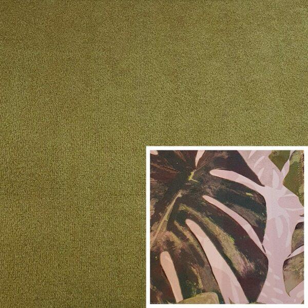 Trendstore Gaven Sofa grün Kissen Pflanzen