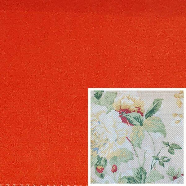 Trendstore Gaven Sofa orange Kissen Blumen hell
