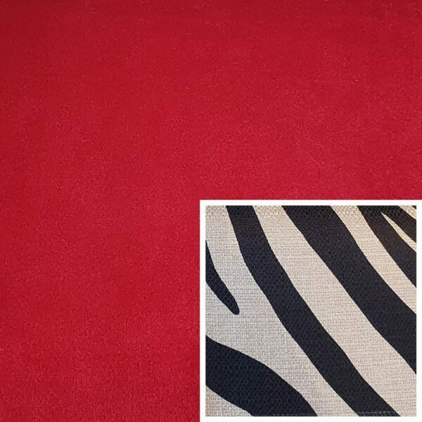 Trendstore Gaven Sofa rot Kissen Zebra