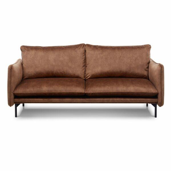 """Trendstore Sofa """"Vanessa"""" 3-Sitzer mit Bezug Adore Copper und Füßen aus Metall in Schwarz"""
