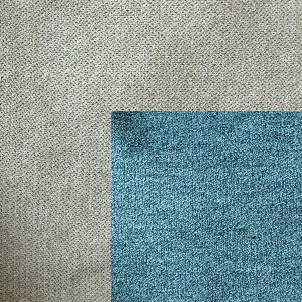 Bezug Korpus in Taupe – Bezug Sitzfläche in Jeans