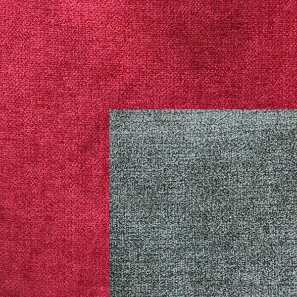 Bezug Korpus und Zierkissen Webstoff Enjoy 14 red – Bezug Sitz und Rückenkissen Webstoff Aston 17 anthrazit