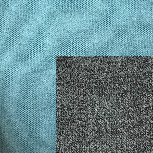 Bezug Korpus und Zierkissen Webstoff Enjoy 18 mint - Bezug Sitz und Rückenkissen Webstoff Aston 06 stone