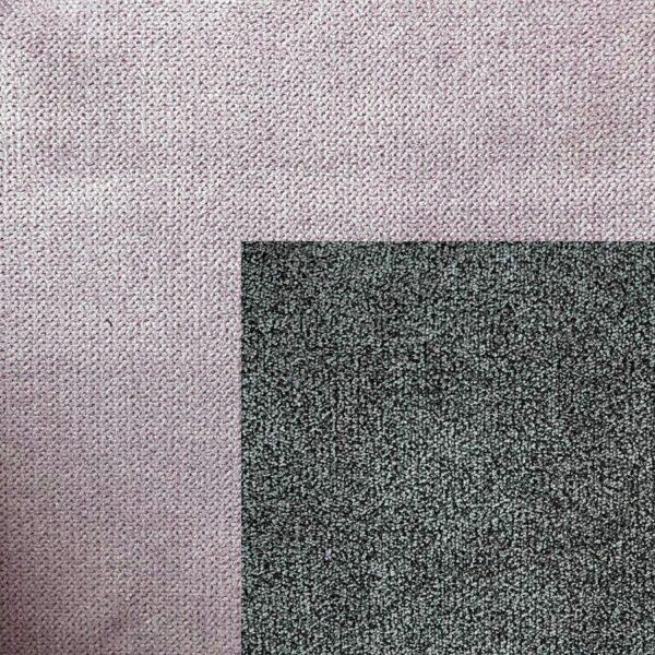 Bezug Korpus in Puderrosa – Bezug Sitzfläche in Stone