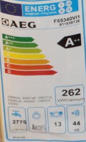 AEG PYROPXFAV Geräte-Set energielabel geschirspüler