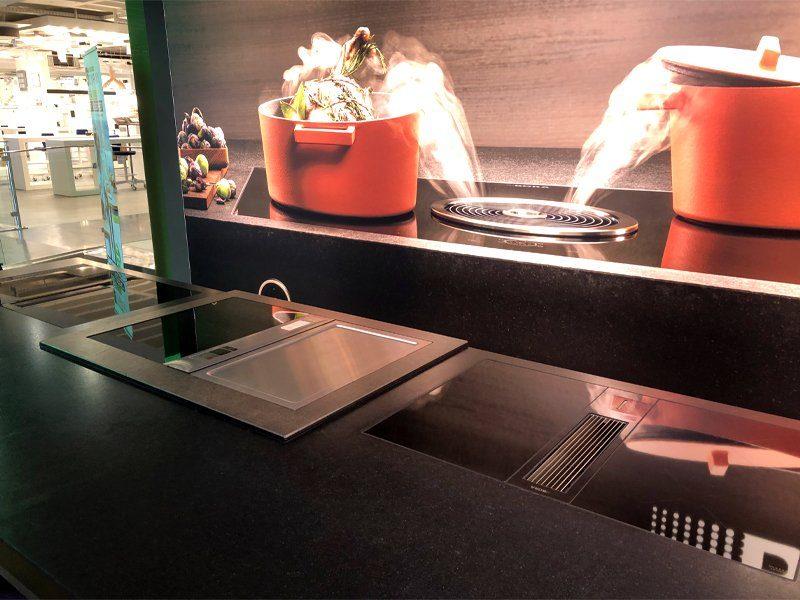 Bora Dunstabzüge und Kochfelder in unseren Ausstellungen