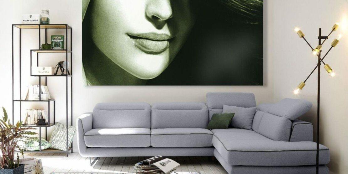 Elegant-minimalistische Wohnzimmer-Einrichtung