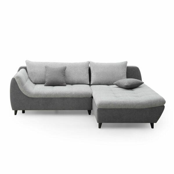 Trendstore Nista Elementgruppe – Bezug Korpus und Zierkissen in der Farbe Ash und Bezug Sitz und Rückenkissen in der Farbe Hellgrau