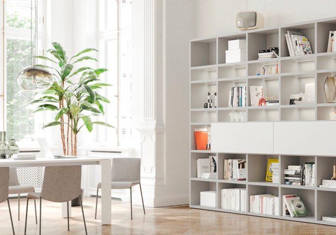 Moderne Wohnwände statt Eiche Massivholz
