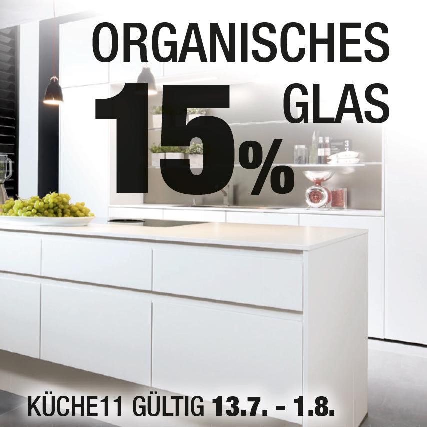Jubiläumsaktionen: Organisches Glas