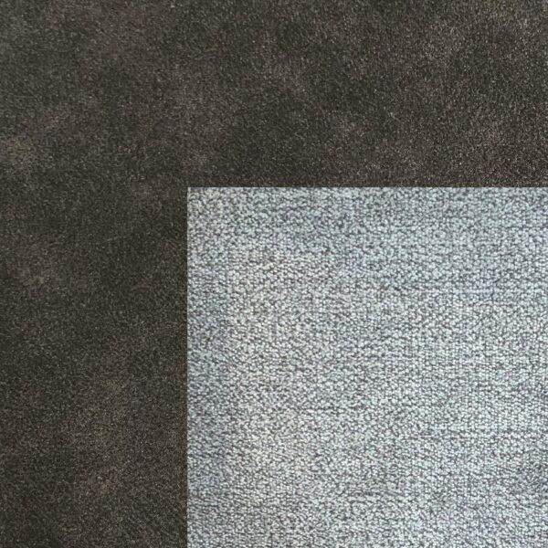 Bezug Korpus und Seiten Kopfteil in Grey – Bezug Obermatratze und Kopfteilmitte in Schlamm