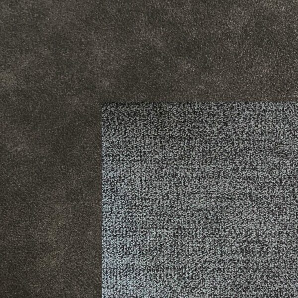 Bezug Korpus und Seiten Kopfteil in Grey – Bezug Obermatratze und Kopfteilmitte in Stone