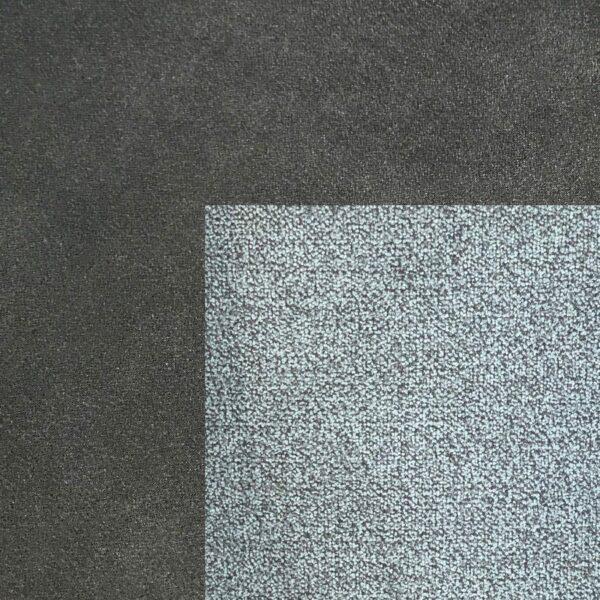 Bezug Korpus und Seiten Kopfteil in Anthrazit – Bezug Obermatratze und Kopfteilmitte in Dark Grey