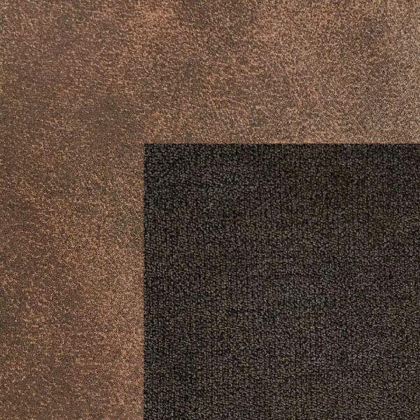 Bezug Korpus und Seiten Kopfteil in Dark Brown – Bezug Obermatratze und Kopfteilmitte in Brown