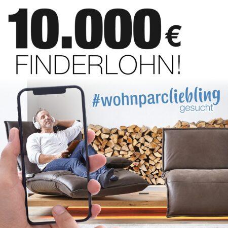 Wohnparc-Liebling gesucht: 10.000 Euro Finderlohn gewinnen!