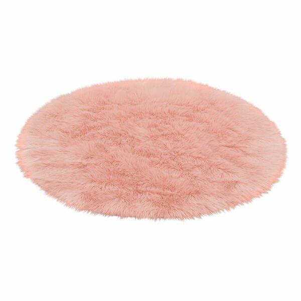 Astra Mia rund Teppich in Pink – Perspektive