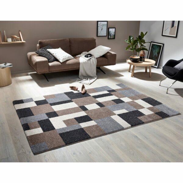 Astra Savona Design 191 Teppich in der Farbe Braun – Wohnbeispiel