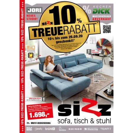 SIZZ Treuerabatt & Musterküchen-Abverkauf