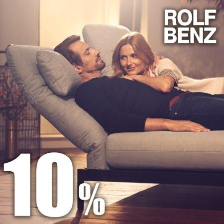 Wohntraum erfüllen: 10 % Rabatt auf Rolf Benz