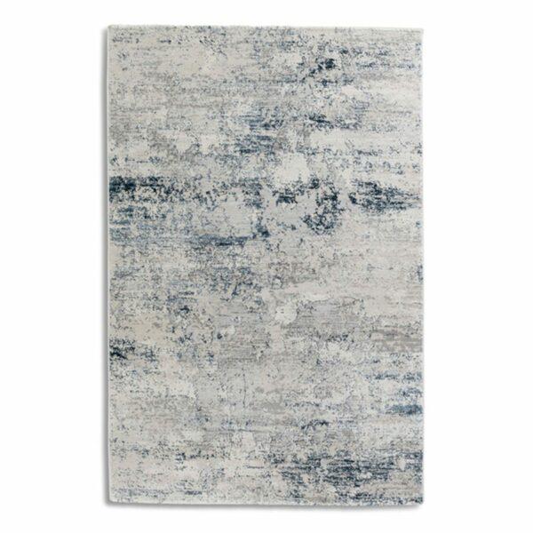 """Astra """"Antea"""" Teppich im Design 201 in der Farbe Creme-Blau in frontaler Ansicht."""