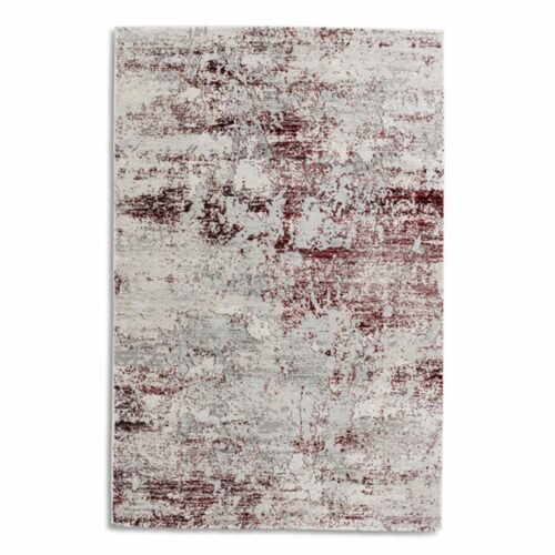 """Astra """"Antea"""" Teppich im Design 201 in der Farbe Creme-Rot in frontaler Ansicht."""