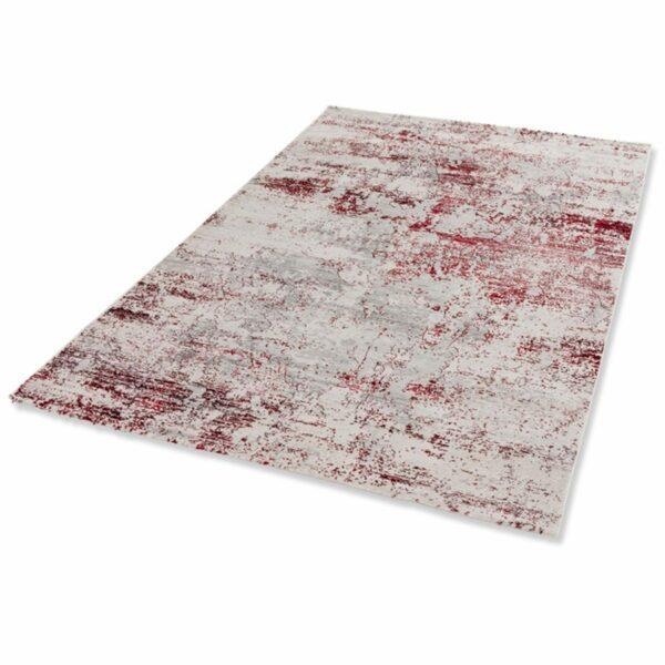 """Astra """"Antea"""" Teppich im Design 201 in der Farbe Creme-Rot in liegender Ansicht."""