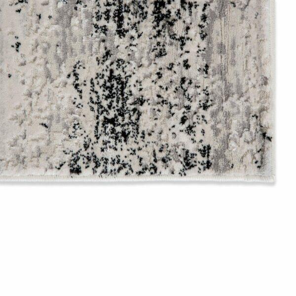 """Astra """"Antea"""" Teppich im Design 201 in der Farbe Creme-Schwarz, Nahansicht der Ecke."""