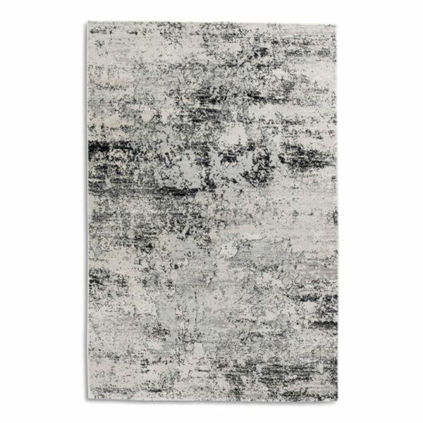 """Astra """"Antea"""" Teppich im Design 201 in der Farbe Creme-Schwarz in frontaler Ansicht."""