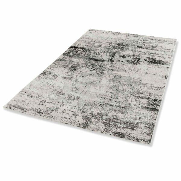 """Astra """"Antea"""" Teppich im Design 201 in der Farbe Creme-Schwarz in liegender Ansicht."""