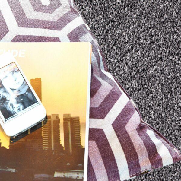 """Astra """"Savona 180"""" Teppich in der Farbe Silber – Wohnbeispiel"""