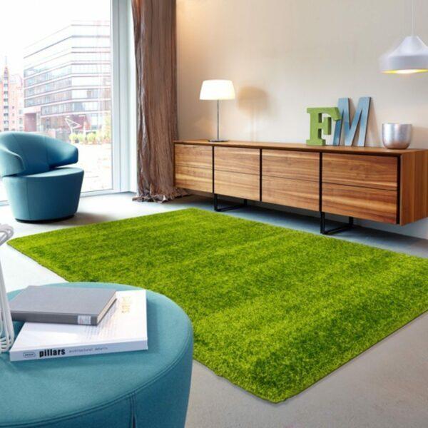 Astra Matera Teppich rechteckig Farbe Grün – Impression