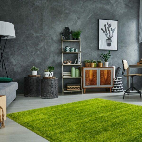 Astra Matera Teppich rechteckig Farbe Grün – Milieubild