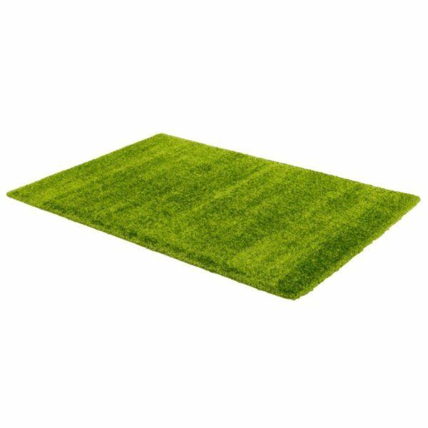 Astra Matera Teppich rechteckig Farbe Grün – seitliche Ansicht