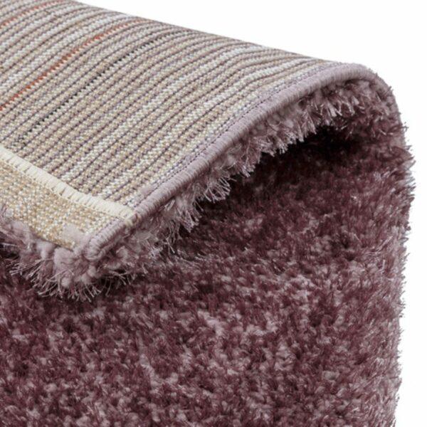 Astra Matera Teppich rechteckig Farbe Mauve – Ecke