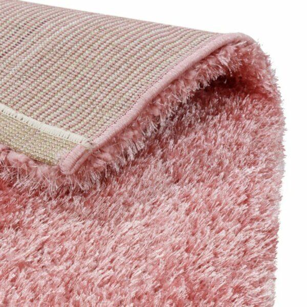 Astra Matera Teppich rechteckig Farbe Raspberry – Ecke