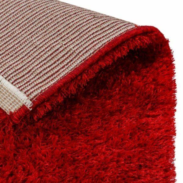 Astra Matera Teppich rechteckig Farbe Rot – Ecke