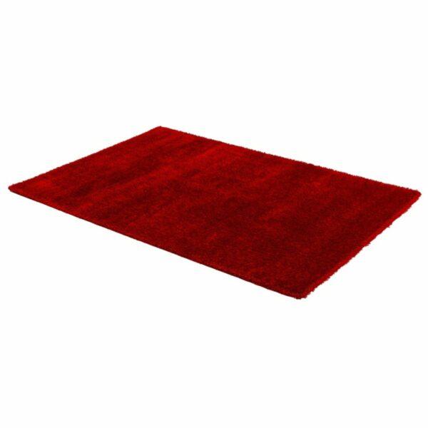 Astra Matera Teppich rechteckig Farbe Rot – seitliche Ansicht