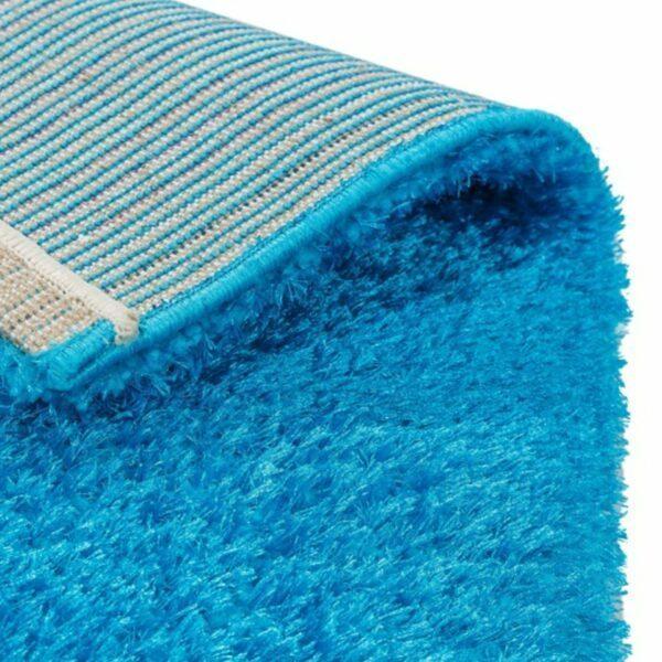 Astra Matera Teppich rechteckig Farbe Türkis – Ecke