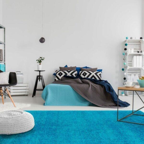 Astra Matera Teppich rechteckig Farbe Türkis – Impression
