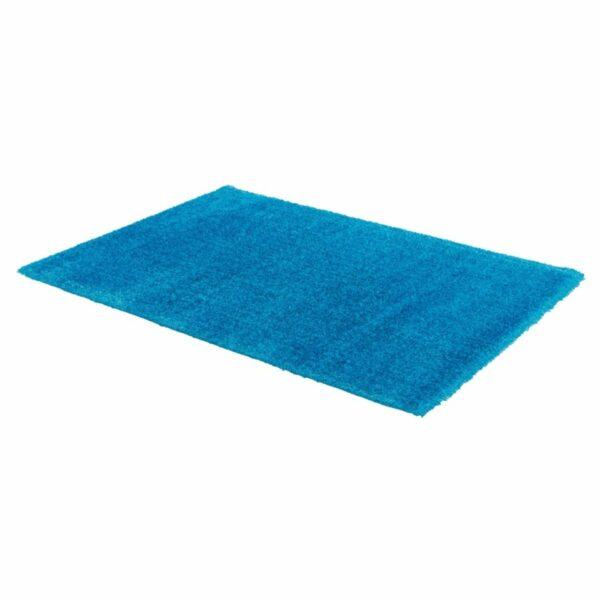 Astra Matera Teppich rechteckig Farbe Türkis – seitliche Ansicht