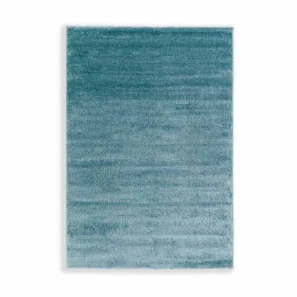 """Astra """"Pure"""" Teppich in der Farbe Türkis in frontaler Ansicht."""