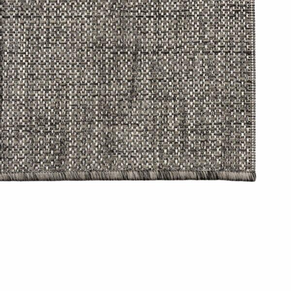 """Astra """"Rho"""" Teppich im Design 190 mit der Farbe Anthrazit in Nahansicht der Ecke."""