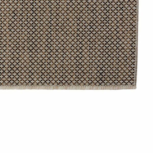 """Astra """"Rho"""" Teppich im Design 190 mit der Farbe Braun in Nahansicht der Ecke."""